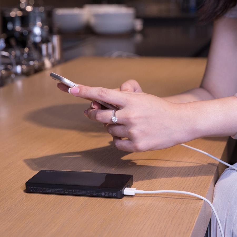 【日本正規代理店】 ZMI QB810 モバイルバッテリー 10000mAh 大容量 薄型 急速充電 薄型 PSE認証済 残量表示 スマホ充電器 携帯充電器 USB-Cポート付 18ヶ月保証 starq-online 09