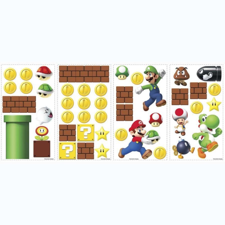 マリオ 壁紙シール 45種類入り ヨッシーパッケージ Mario シール