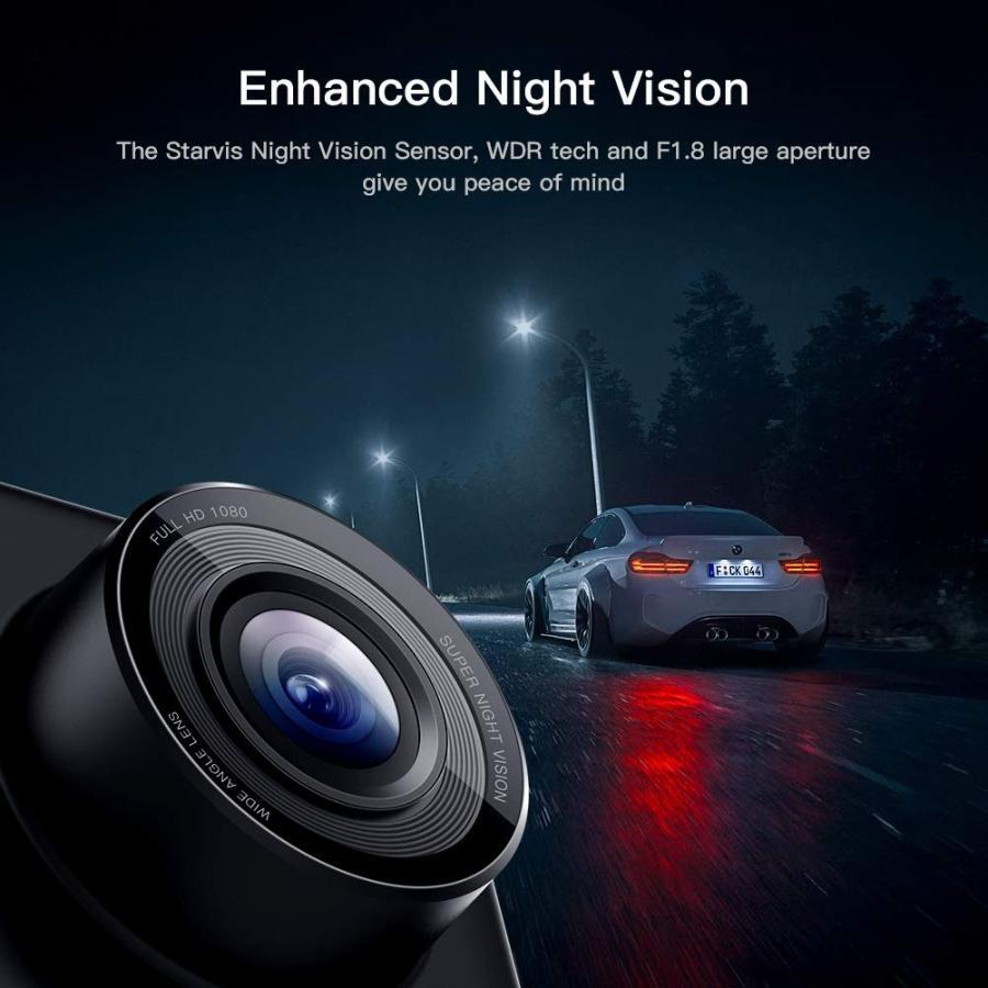 APEMAN C420 ドライブレコーダー 車載カメラ Gセンサー WDR機能搭載 高画質 1080PフルHD 170度広角 常時録画 駐車監視 上書き録画 動き検知 衝撃録画 starvillage 04