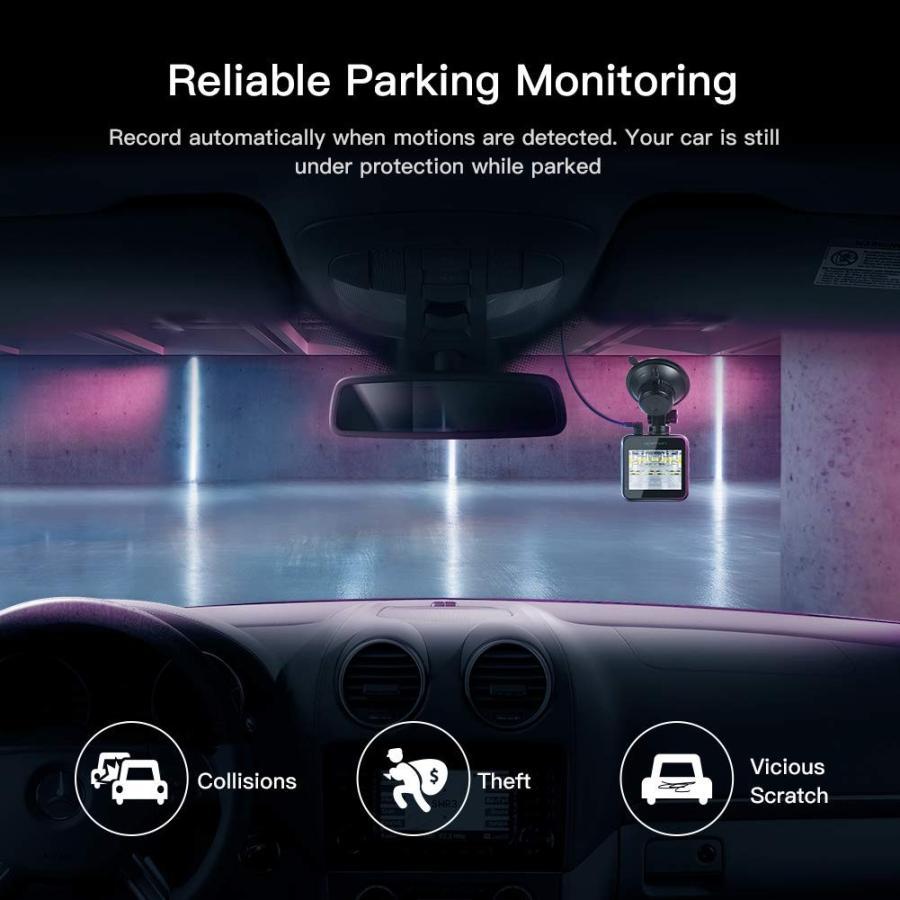 APEMAN C420 ドライブレコーダー 車載カメラ Gセンサー WDR機能搭載 高画質 1080PフルHD 170度広角 常時録画 駐車監視 上書き録画 動き検知 衝撃録画 starvillage 05