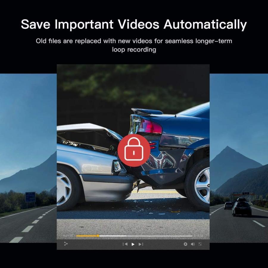 APEMAN C420 ドライブレコーダー 車載カメラ Gセンサー WDR機能搭載 高画質 1080PフルHD 170度広角 常時録画 駐車監視 上書き録画 動き検知 衝撃録画 starvillage 06