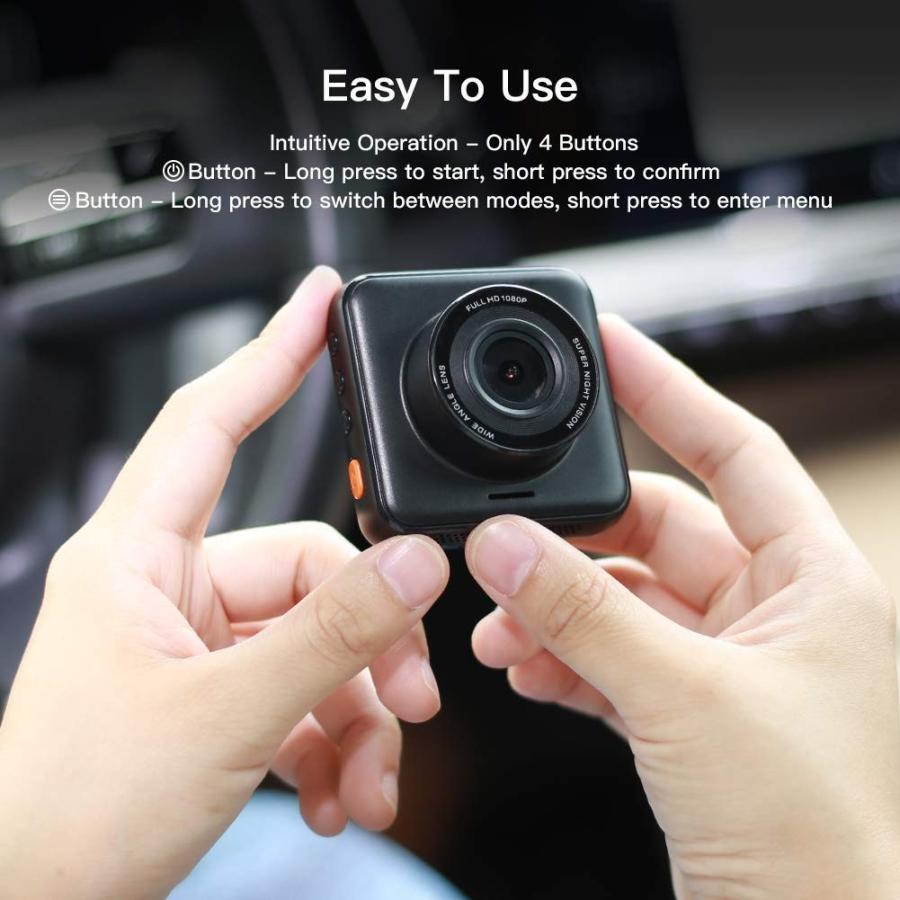 APEMAN C420 ドライブレコーダー 車載カメラ Gセンサー WDR機能搭載 高画質 1080PフルHD 170度広角 常時録画 駐車監視 上書き録画 動き検知 衝撃録画 starvillage 07