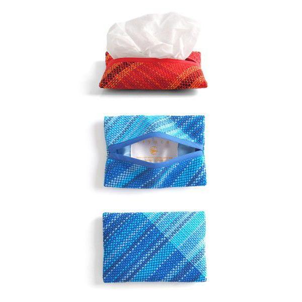 【3月下旬出荷予定】<メール便対応>Hiyuca(ヒユカ)×織音 さをり織り ポケットティッシュケース 小物 雑貨メント レディース メンズ|stayblue|02