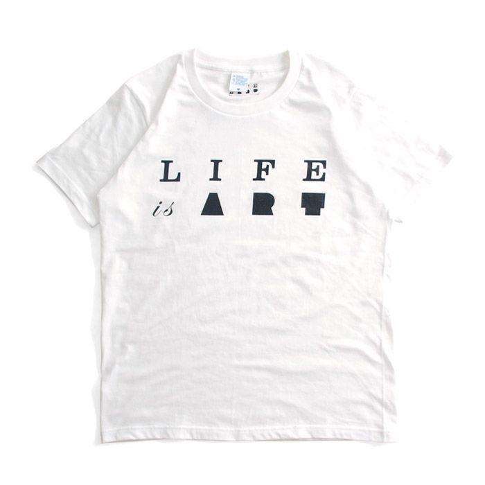 Tシャツ ライフ イズ アート Primary Logo Tシャツ White メンズ|stayblue