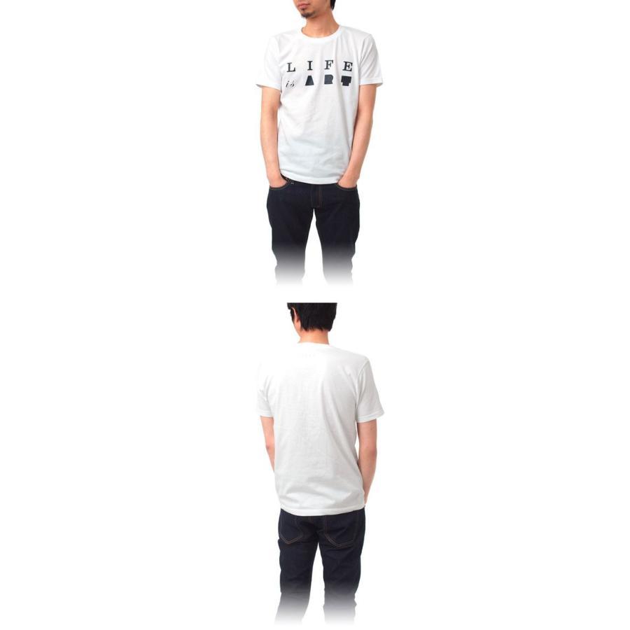 Tシャツ ライフ イズ アート Primary Logo Tシャツ White メンズ|stayblue|02