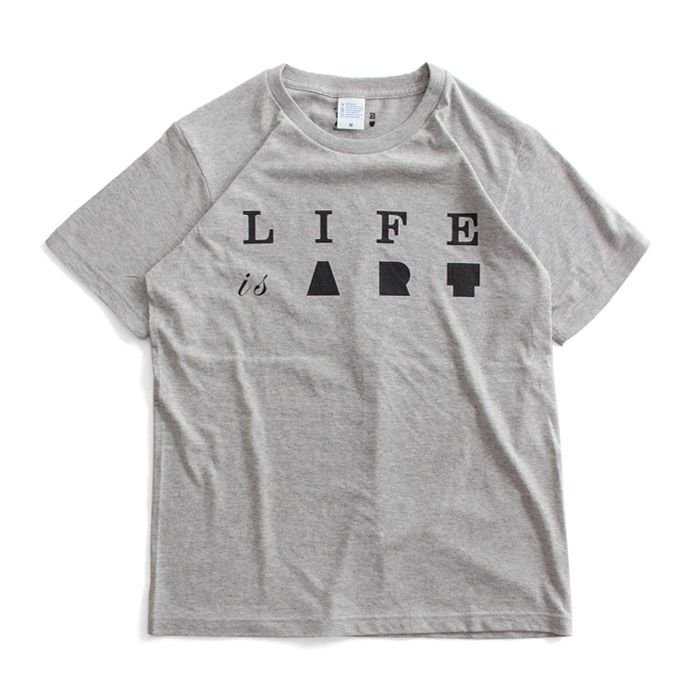 Tシャツ ライフ イズ アート Primary Logo Tシャツ Mix Gray メンズ|stayblue