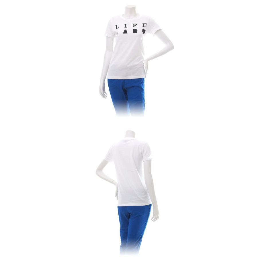 Tシャツ ライフ イズ アート Primary Logo Tシャツ White レディース|stayblue|02