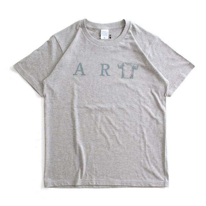 Tシャツ ライフ イズ アート ART Mix Gray メンズ|stayblue