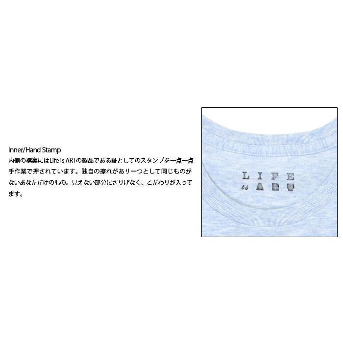 Tシャツ ライフ イズ アート Boy Melange Blue メンズ|stayblue|03