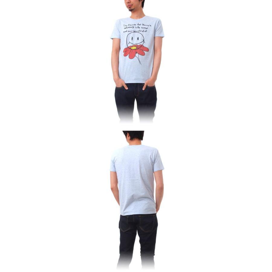 Tシャツ ライフ イズ アート Smile Melange Blue メンズ stayblue 02