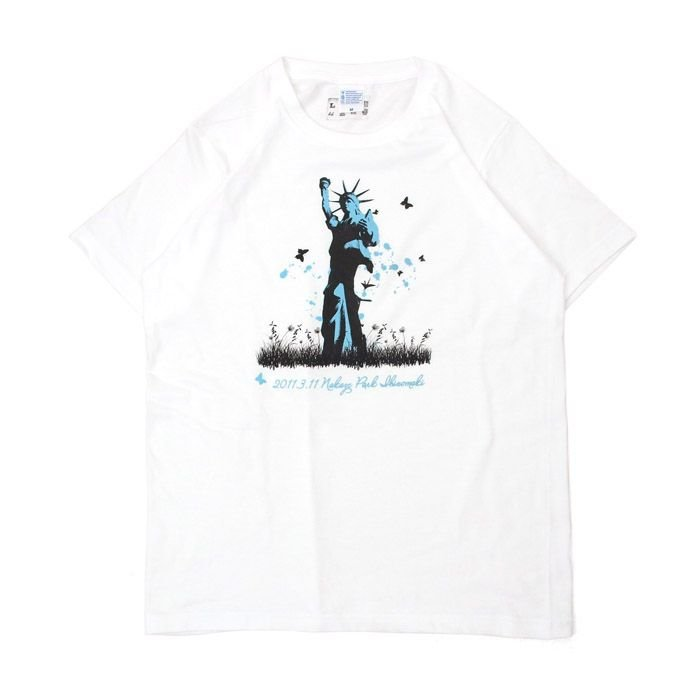Tシャツ ライフ イズ アート Statue of Liberty White メンズ|stayblue
