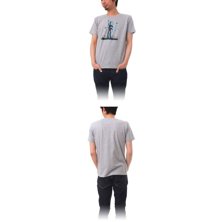 Tシャツ ライフ イズ アート Statue of Liberty Mix Gray メンズ|stayblue|02