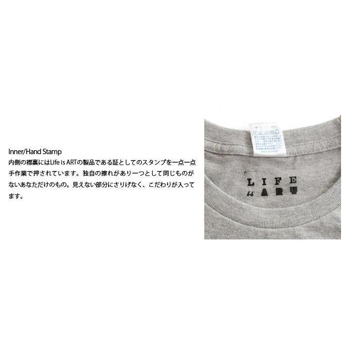 Tシャツ ライフ イズ アート Statue of Liberty Mix Gray メンズ|stayblue|03