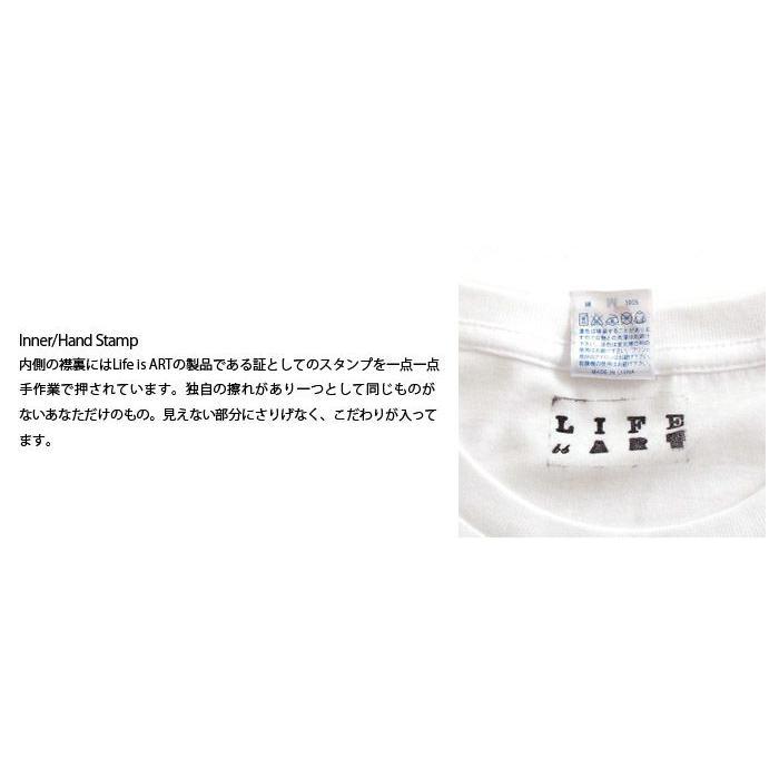Tシャツ ライフ イズ アート CAR White メンズ stayblue 03