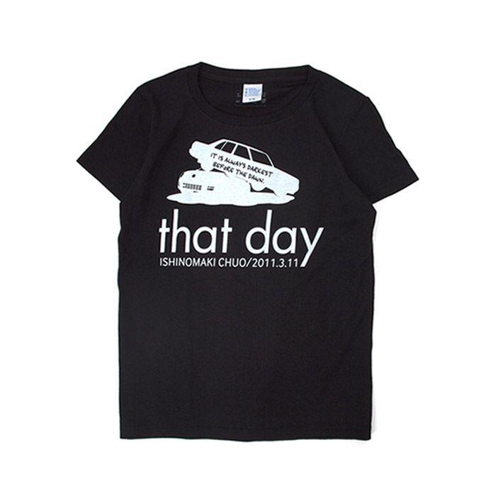 Tシャツ ライフ イズ アート CAR Black レディース|stayblue