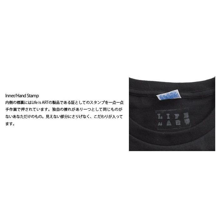 Tシャツ ライフ イズ アート × CREAM GRAPHICS Tシャツ I will Black メンズ|stayblue|03