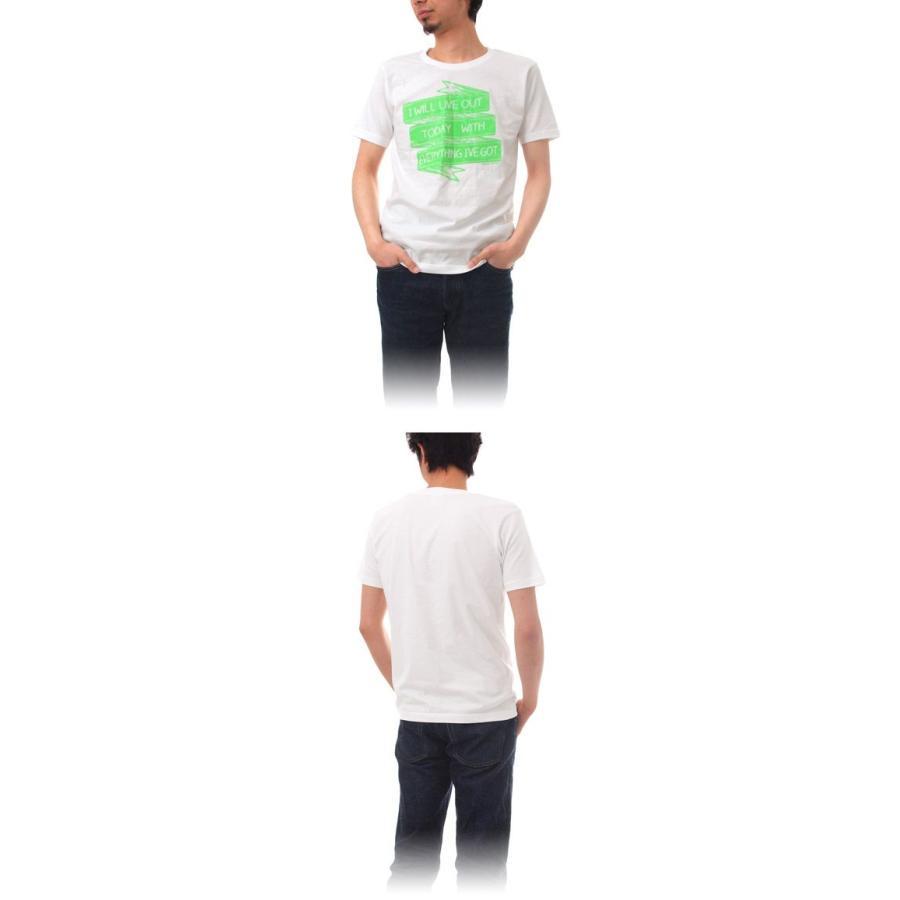 Tシャツ ライフ イズ アート × CREAM GRAPHICS Tシャツ I will White メンズ stayblue 02