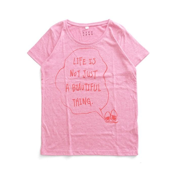 Tシャツ ライフ イズ アート × Chos Tシャツ NOT JUST A BEAUTIFUL Vintage Heather Pink レディース|stayblue