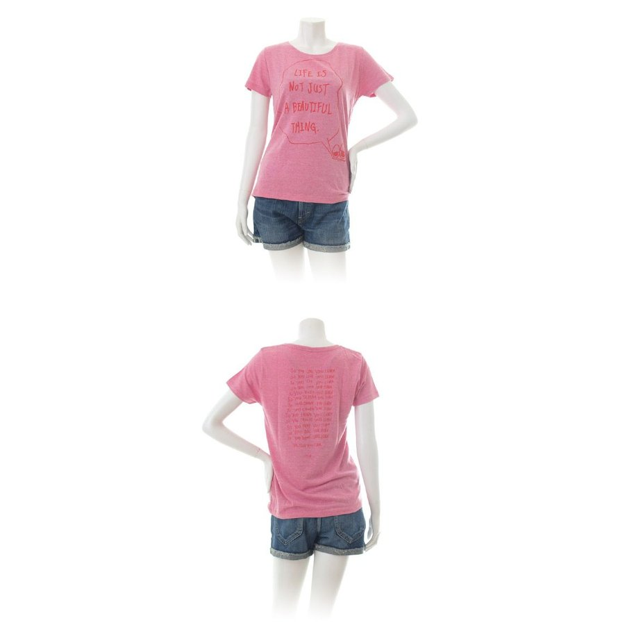 Tシャツ ライフ イズ アート × Chos Tシャツ NOT JUST A BEAUTIFUL Vintage Heather Pink レディース|stayblue|02