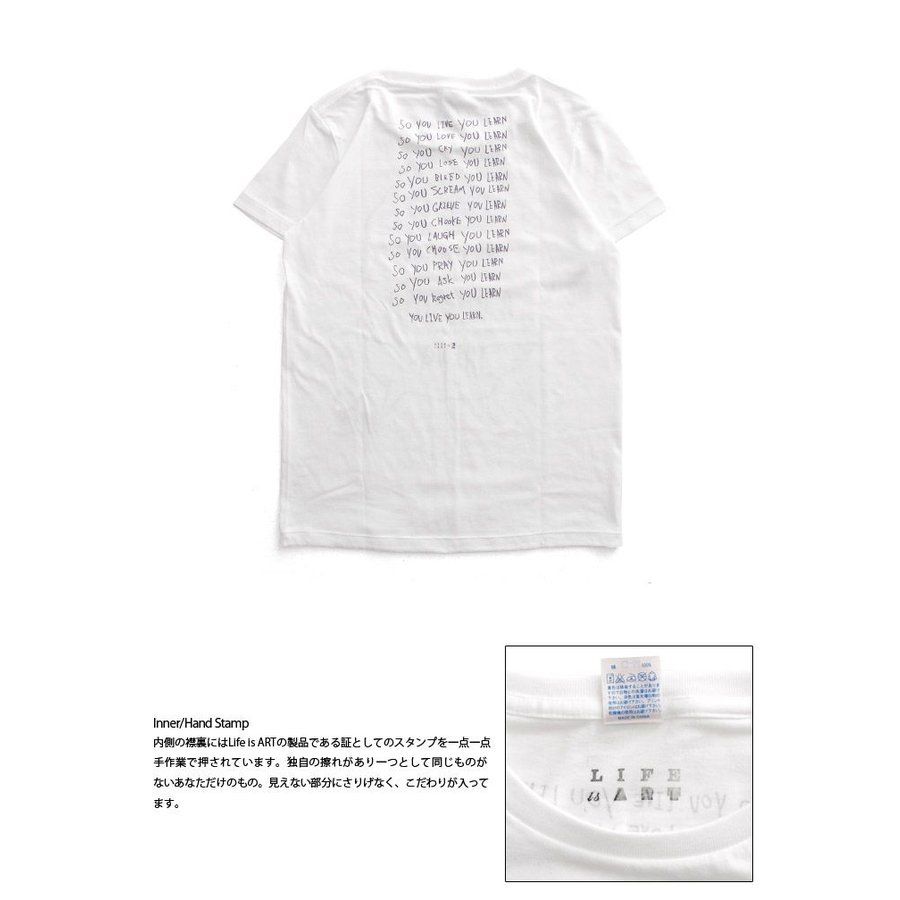 Tシャツ ライフ イズ アート × Chos Tシャツ NOT JUST A BEAUTIFUL White レディース|stayblue|03