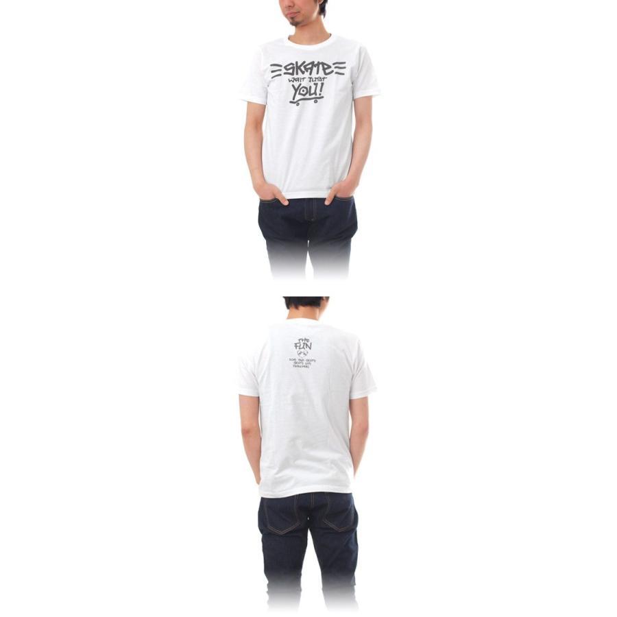 Tシャツ ライフ イズ アート × THE FUN Tシャツ SKATE White メンズ|stayblue|02