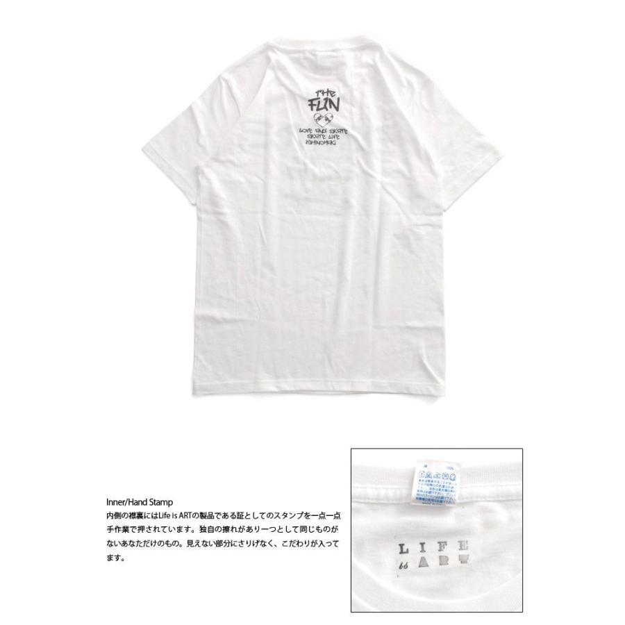 Tシャツ ライフ イズ アート × THE FUN Tシャツ SKATE White メンズ|stayblue|03