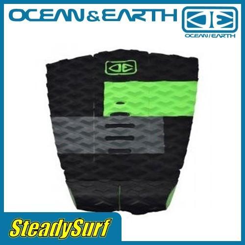 3ピース/オーウェン・ライト テールパッド ライム/OWEN WRIGHT Lime/OCEAN&EARTH/ デッキパッド/オーシャン&アース/サーフィン