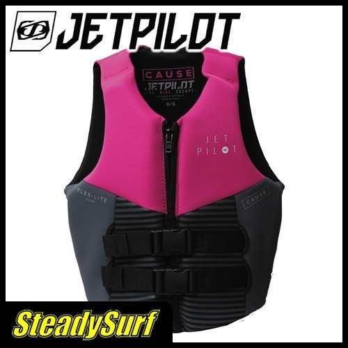 あすつく ピンク ストライク コーズ F/E レディースネオCGAベスト ジェットパイロット JETPILOT ライフジャケット ライジャケ ジェットスキー 水上バイク