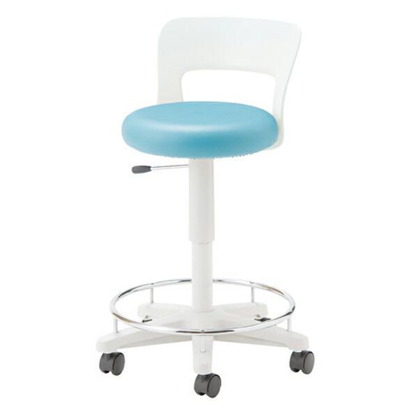 オフィスチェア(事務椅子)ソフトスツール 作業用チェア 厚手クッション レザー張り ラウンド背もたれ 自重(9.0)kg 自重(9.0)kg