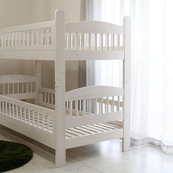 2段ベッド 二段ベット ベッド 子供部屋 キッズ ホワイト ナチュラル 北欧 モダン 木製 安い|stepone2008|03