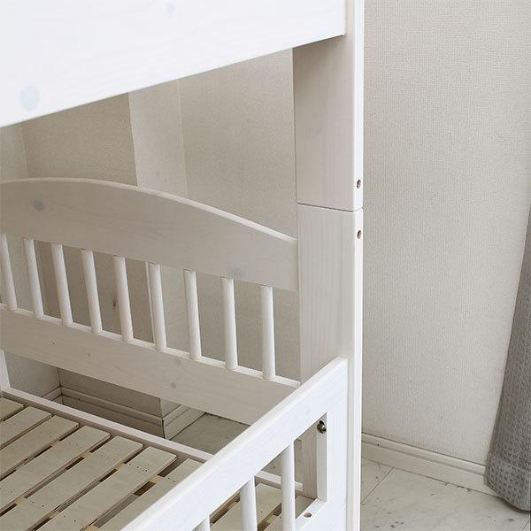 2段ベッド 二段ベット ベッド 子供部屋 キッズ ホワイト ナチュラル 北欧 モダン 木製 安い|stepone2008|04