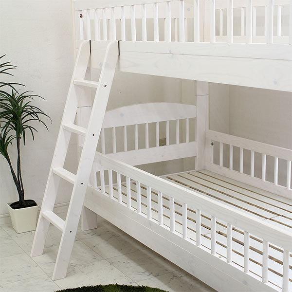 2段ベッド 二段ベット ベッド 子供部屋 キッズ ホワイト ナチュラル 北欧 モダン 木製 安い|stepone2008|05