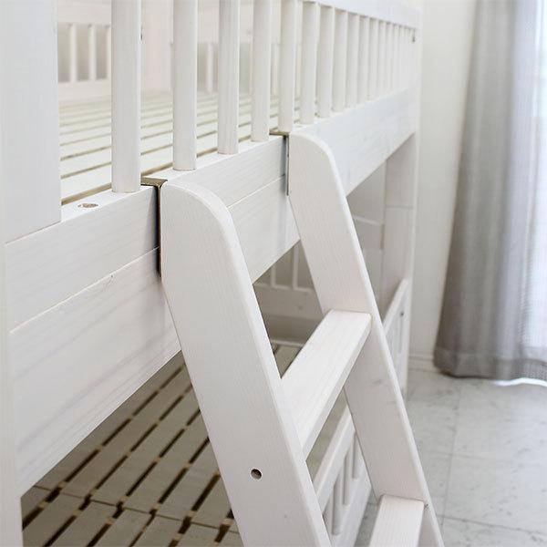 2段ベッド 二段ベット ベッド 子供部屋 キッズ ホワイト ナチュラル 北欧 モダン 木製 安い|stepone2008|06