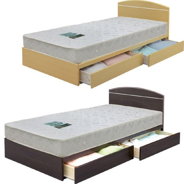 ベッド フレームのみ シングルベッド 収納付 引き出し付 シンプル モダン 北欧 MDF フラットヘッドボード|stepone2008