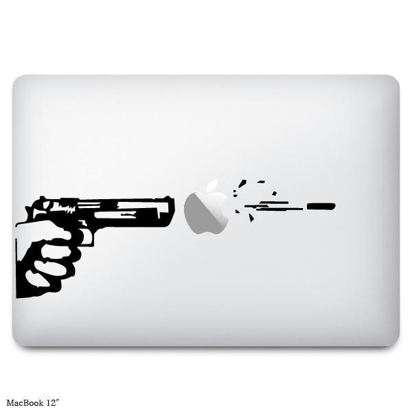 Macbook ステッカー スキンシール 拳銃と弾丸 ショッピング gun bullet 新作製品 世界最高品質人気 and