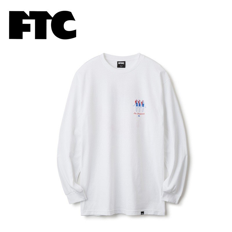 FTC エフティーシー SKY CLUB L/S TEE FTC018AUT09 スカイクラブロングスリーブTシャツ メンズ 長袖 バックプリント 正規販売店 送料無料 新品