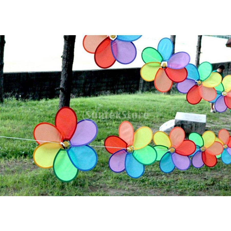 ノーブランド品 テント 飾り 風スピナー 花風車 35%OFF ガーデン デコレーション 国内在庫 ウインド おしゃれ
