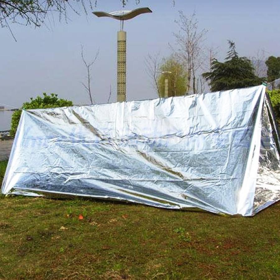 新色追加して再販 ノーブランド品 アウトドア サバイバル キャンプ用 2020新作 ポータブル 折畳式 緊急 シェルター テント