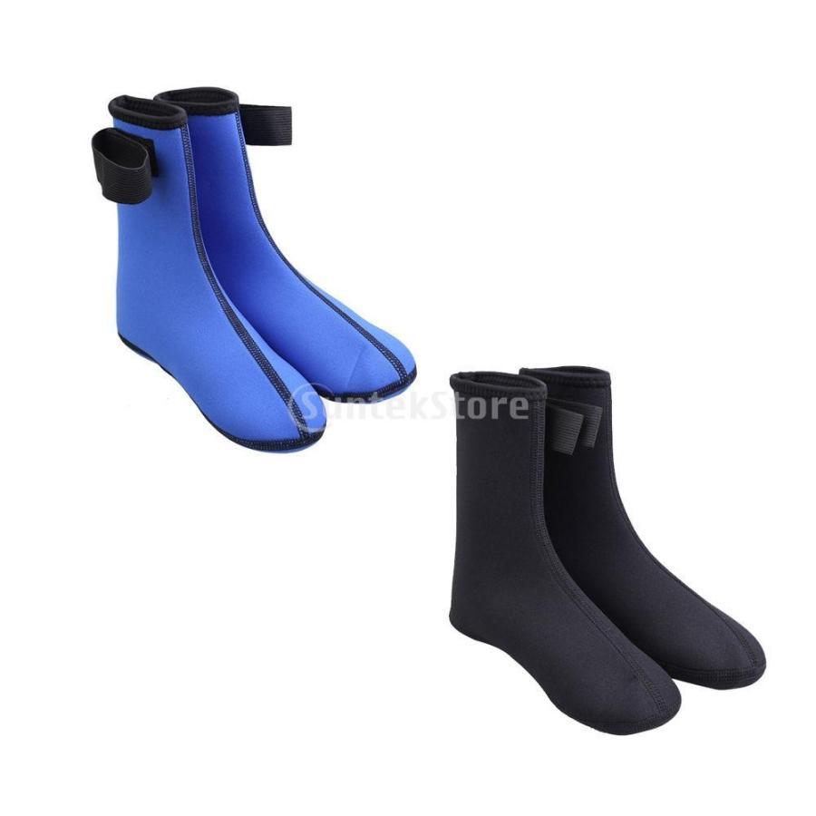 ノーブランド品 ダイビング ソックス 水泳 靴下 ブーツ ウォーター スポーツ サーフィン 黒 M|stk-shop|02