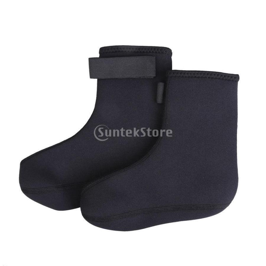 ノーブランド品 ダイビング ソックス 水泳 靴下 ブーツ ウォーター スポーツ サーフィン 黒 M|stk-shop|03