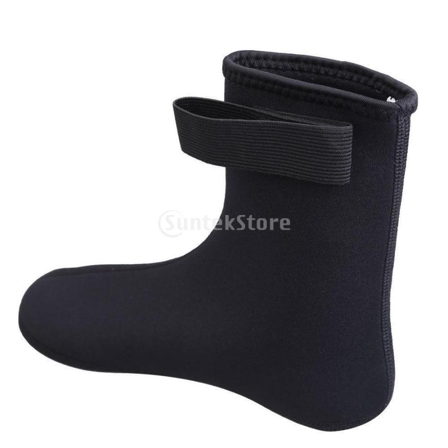 ノーブランド品 ダイビング ソックス 水泳 靴下 ブーツ ウォーター スポーツ サーフィン 黒 M|stk-shop|04