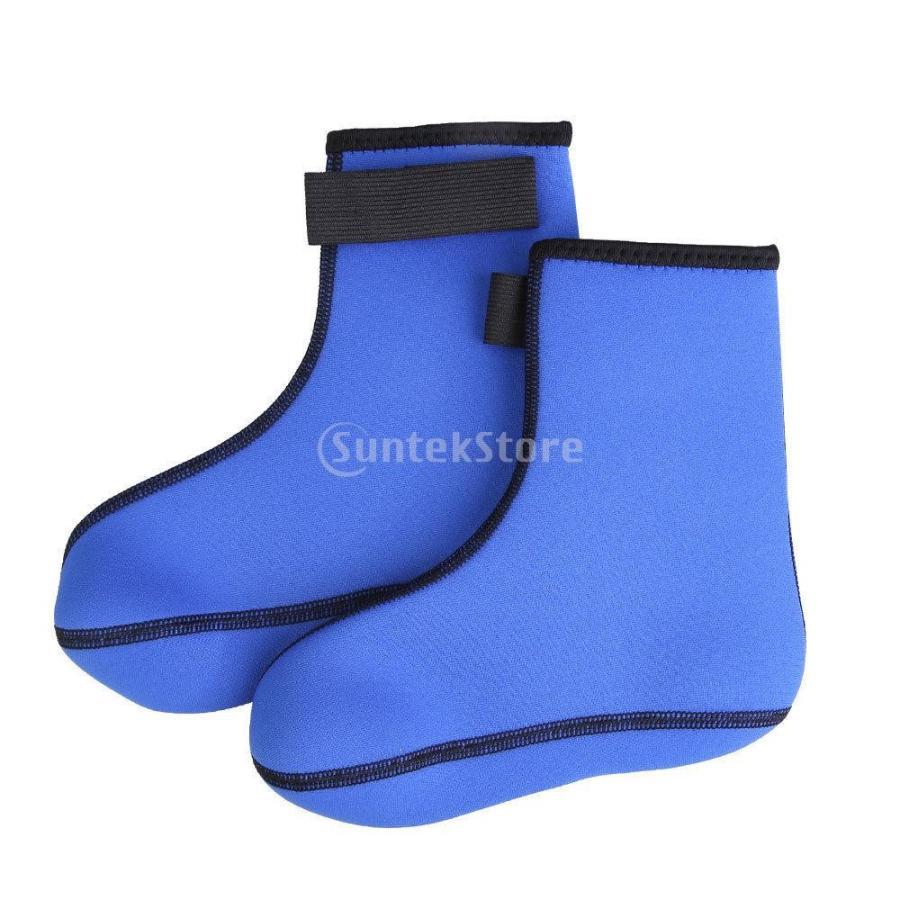 ノーブランド品 ダイビング 爆買い送料無料 大人気 ソックス 水泳 靴下 ブーツ サーフィン ウォーター M ブルー スポーツ