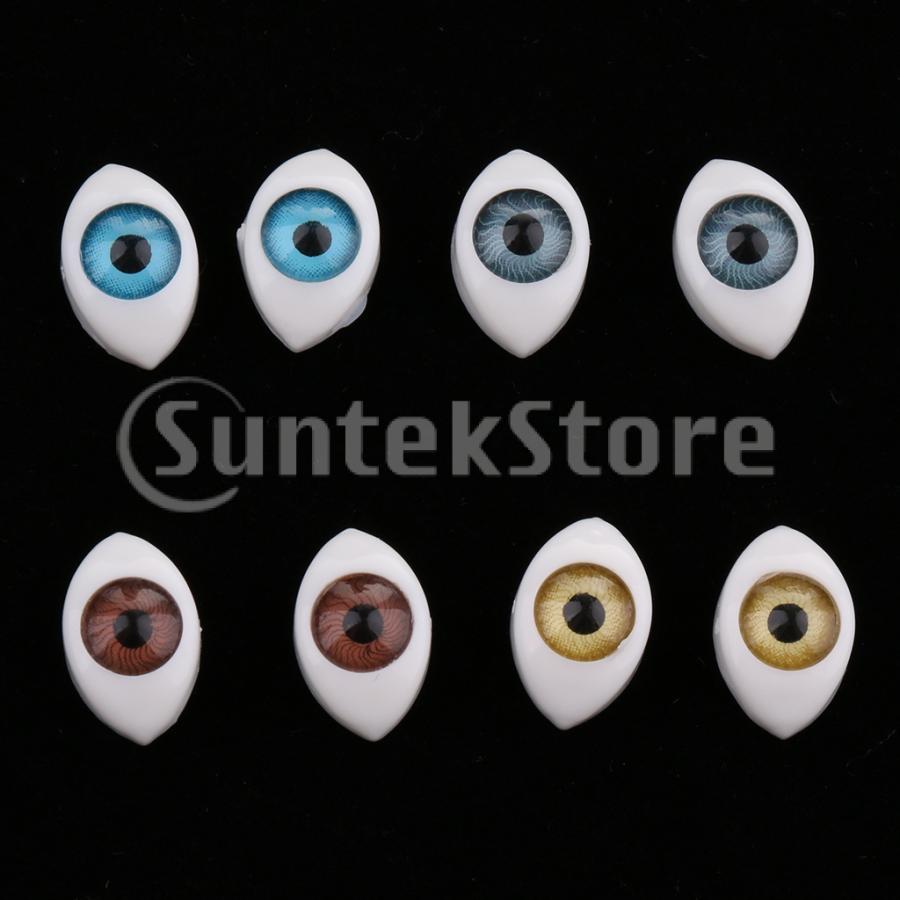 8個セット ドール アイ ドールアイ 6mm 4色 オーバル 眼 ドールメイキング 操り人形 ◆高品質 人形 値引き 目 ハンドメイド修理に