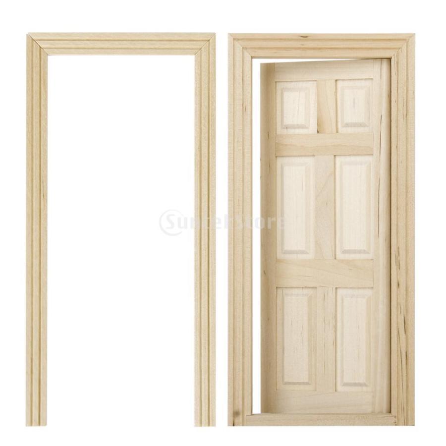 ドールハウス 扉 ドア 木製 DIY 自分で描く 1 6つパネル 品質検査済 新作 大人気 12 アクセサリー 手作り
