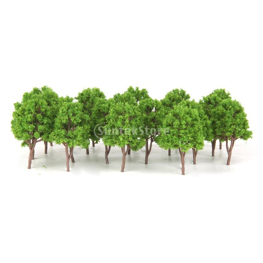 プラスチック製 20個入り 1 150 樹木 モデルツリー 鉄道レイアウトウォーゲーム ジオラマ 高級品 大放出セール 7.5センチ N用 贈り物 建築模型 装飾