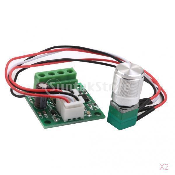 ノーブランド品 2個入り 低電圧 DC ハイクオリティ 1.8Vー12V モータ速度コントローラPWM お求めやすく価格改定 2A