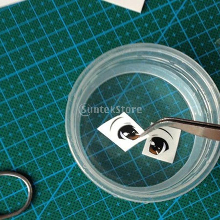 粘土 工芸用 2個 シリコーン 人形の顔の型 5枚 かわいい 目のステッカー|stk-shop|07