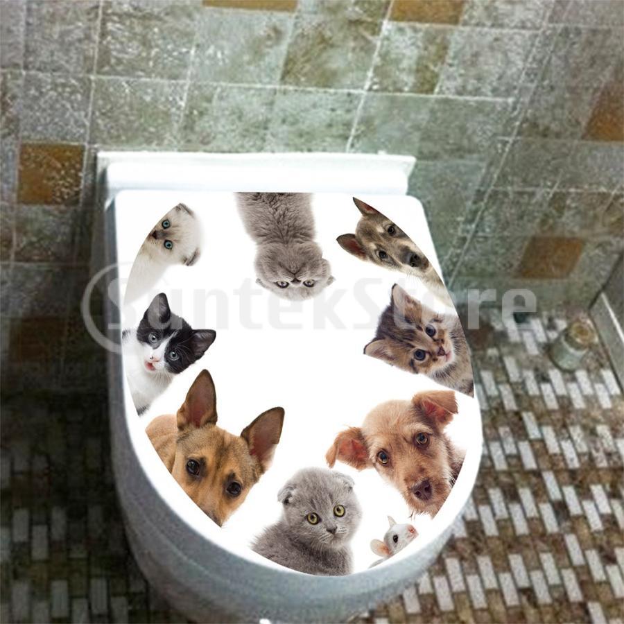 新作通販 ウォールステッカー 全国どこでも送料無料 3D トイレステッカー 浴室装飾 クリエイティブ 壁猫 デ登る