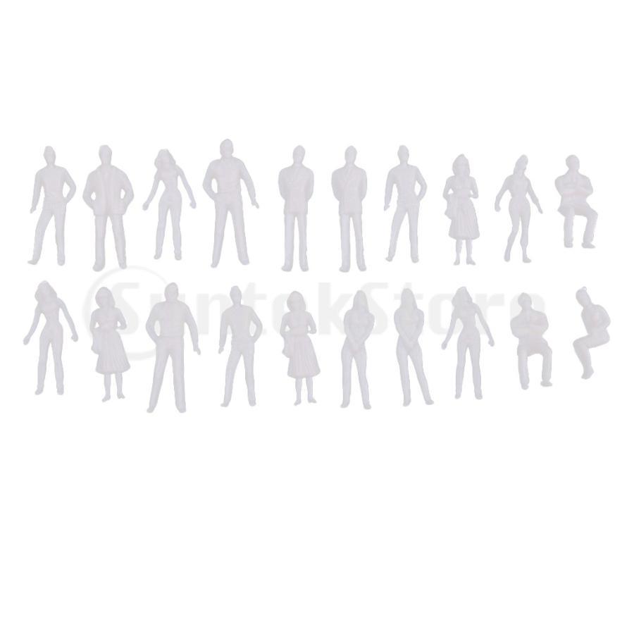 40pcsミニチュアフィギュア1 大注目 50 1 75建築ヒューマンスケールジオラマモデル 即出荷