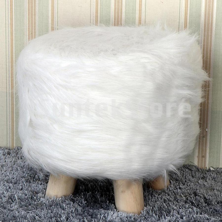 スツールカバー 椅子カバー チェアカバー 33cm 円形 コットン 防ダニ 倉 限定特価 ふわふわ 2枚 白
